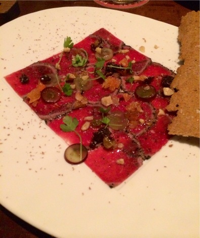 R'Evolution - Espresso-crusted Venison Carpaccio