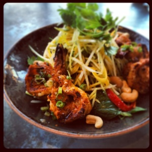 Little Sister - Grilled Prawns Salad