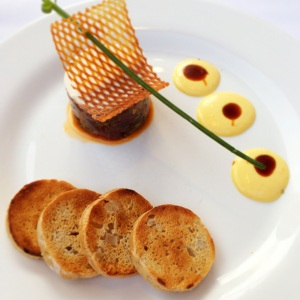 David Burke Kitchen - Parfait of Salmon and Tuna Tartare