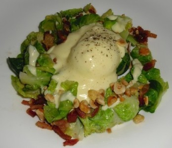 Brussels Sprouts with Poached Egg - Saxon + Parole