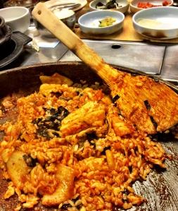 Kimchi rice stir fry - Mapo Galbi