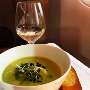 Pea Mint Soup - Qatar Airways
