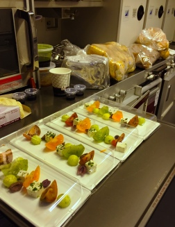 Pre-plated Heritage Tomato salad - Qatar Airways