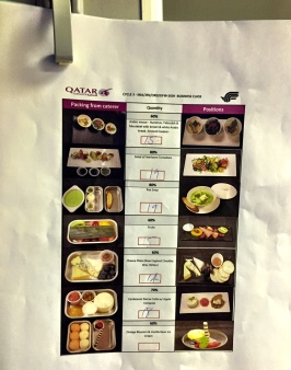 Onboard plating instructions - Qatar Airways