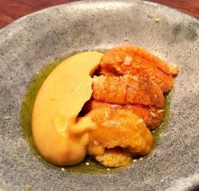 Sea Urchin with fermented Bean Curd, Momofuku Ko