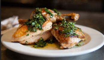 Roast Chicken with Salsa Verde, Barbuto