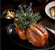 Roast Chicken with brioche and foie gras, The Nomad
